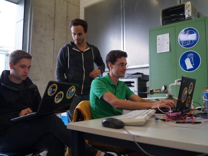 Team Members at Test